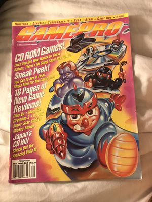 GamePro Magazine February 1991 CD Rom Games for Sale in Eau Claire, WI