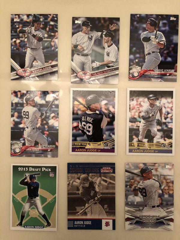 Aaron Judge baseball card lot