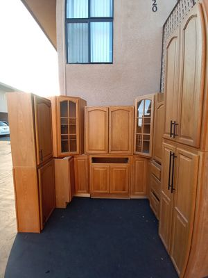 Solid oak kitchen cabinets in excellent condition for Sale in El Cajon, CA