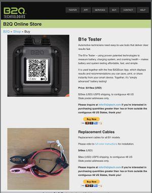 B2Q Battery Tester for Sale in Clovis, CA