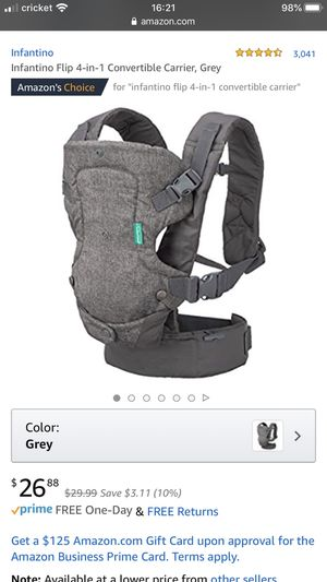 *NEW* Infantino Flip 4-in-1 Convertible Baby Carrier, Grey for Sale in Seattle, WA