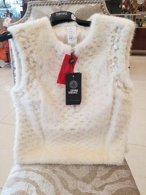 Versace women's Fur Mink Vest size 44/L (runs small) BEAUTIFUL brand new $4400 retail for Sale in Tampa, FL