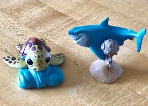 "Disney/Pixar Squirt Turtle and Bruce Shark PVC - 2"" - 2.5"" for Sale in Cleveland, OH"