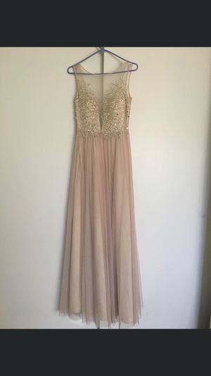 Beautiful beige formal prom dress for Sale in Modesto, CA