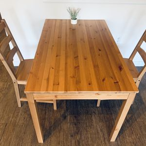 Wooden Dining Table With 2 Chairs for Sale in Seattle, WA