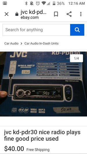 Jvc car stereo for Sale in Kaysville, UT