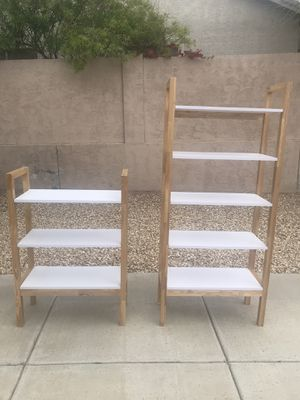 Sturdy wooden bookshelves, set of two for Sale in Mesa, AZ