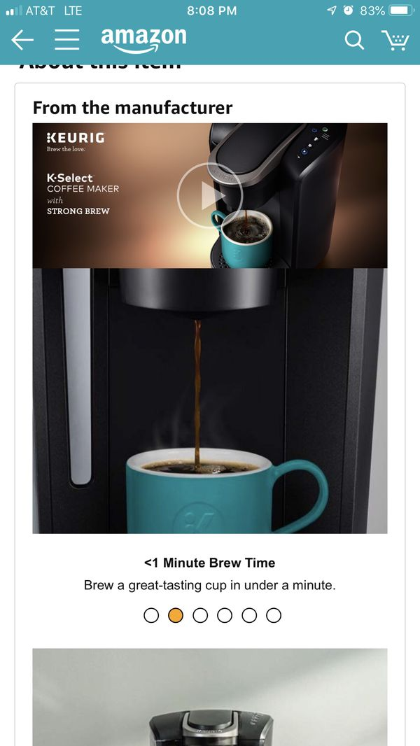 Keurig K-Select Single Serve Coffee Maker (New)