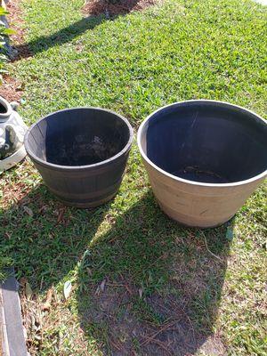 2 BARREL PLANT POTS read details for Sale in Boca Raton, FL