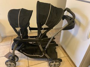 Graco Double Stroller Car seat. Stroller can sit or stand $80 OBO for Sale in Phoenix, AZ