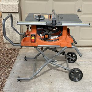 Rigid 10in Pro Jobsite Table Saw with Stand for Sale in Avondale, AZ