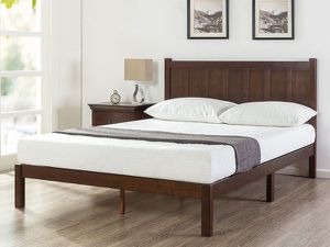 SALE!!! New Zinus Adrian Wood Rustic Style Platform Bed with Headboard Queen size $175 for Sale in Galloway, OH