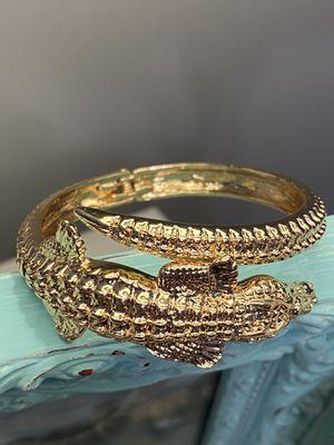 18k GPL Alligator Bangle Bracelet for Sale in Nashville, TN