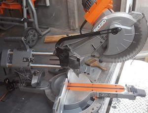 RIDGID 15 Amp 10 in. Corded Dual Bevel Sliding Miter Saw with 70° Miter Capacity R4210☆Pick up only☆ for Sale in Phoenix, AZ