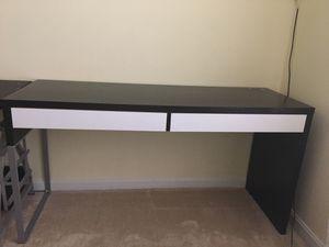 Ikea Micke Desk (Black-Brown) for Sale in Silver Spring, MD