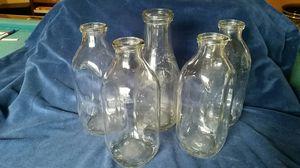 5 antique Glass milk bottles for Sale in Salem, OR