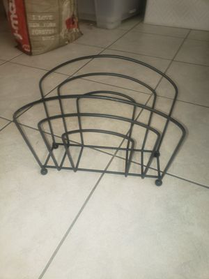 SMALL METAL MAGAZINE RACK for Sale in Boca Raton, FL