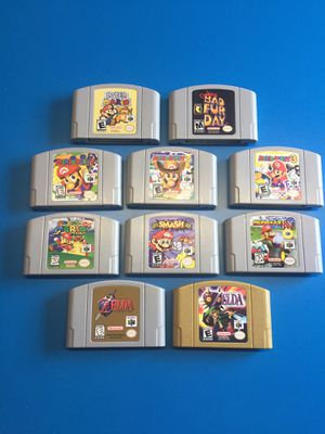 10 n64 games Zelda Mario Party Conkers Smash Kart Nintendo for Sale in Laguna Beach, CA
