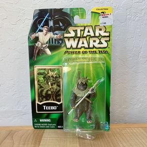 2001 Hasbro Star Wars The Power Of The Jedi Ewoks Teebo Action Figure Sealed On Card for Sale in Elizabethtown, PA