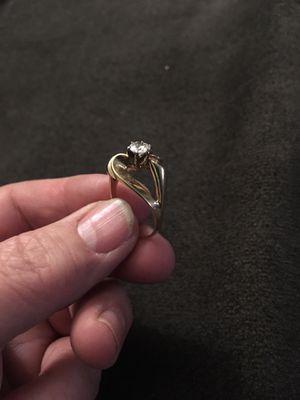 14 k gold solitaire diamond ring size 7 for Sale in Blackstone, VA
