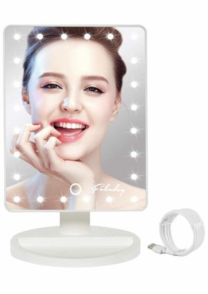 Brand new white LED Lighted Makeup Mirror 24 Led Vanity Cosmetic Mirror, Touch Screen Light Adjustable Diammable Dual Power Supply, 180° Rotation, le for Sale in Arnold, MO