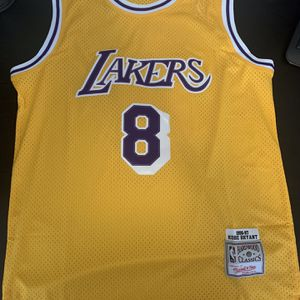 Kobe Bryant 8 Yellow Retro Los Angeles Lakers Jersey for Sale in Burbank, CA