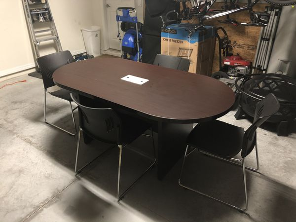 Modern-Style Conference Table, Oval,