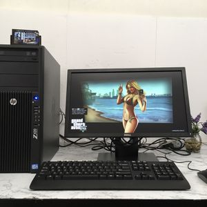 **HP Z420 GAMING/WORKSTATION With Adobe Master Collection CS6** *GOOD WORKSTATION FOR PHOTO AND VIDEO EDITING. *Windows 10 64 bit Full Activated ** Pr for Sale in Jurupa Valley, CA