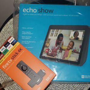 AMAZON ECHO SHOW & Fire TV Stick 4K NEW for Sale in Stafford, VA