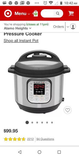 Instant Pot, Duo multi pressure cooker for Sale in Converse, TX