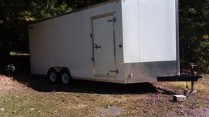 18 ft double axel 2016 Carmate v nose trailer for Sale in Cogan Station, PA