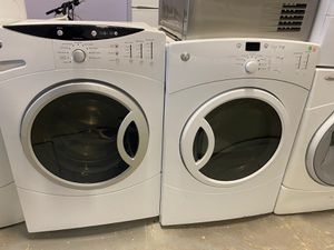 GE FRONT LOAD WASHER AND DRYER ELECTRIC WITH WARRANTY for Sale in Woodbridge, VA