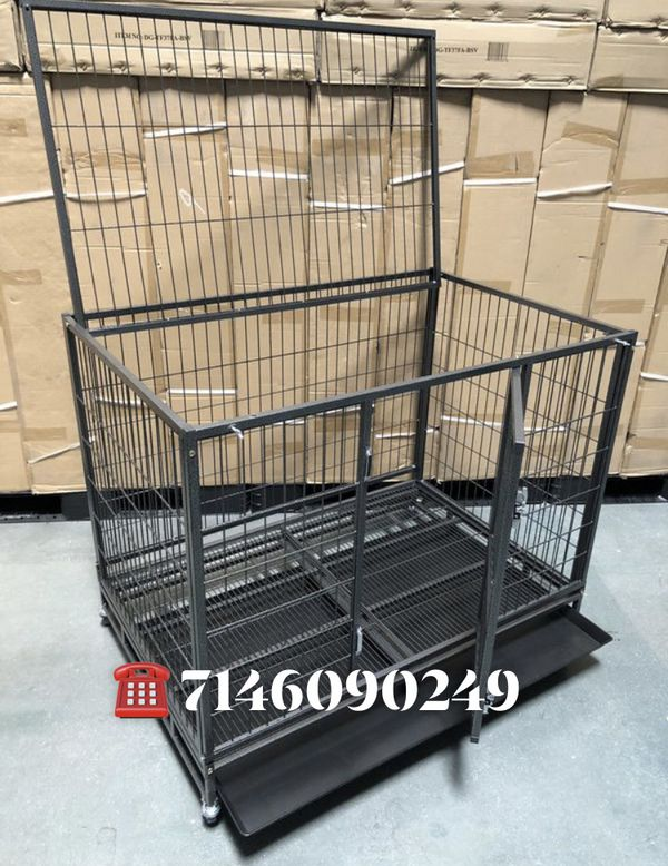 """Dog Pet Cage Kennel Size 43"""" Large Folding New In Box"""