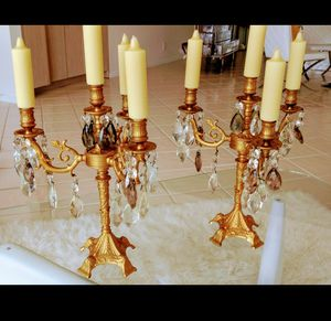 Solid brass 1920's candelabra' s for Sale in West Palm Beach, FL