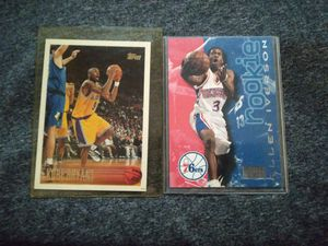 Koby Bryant rookie card #138 and Allen Iverson rookie card#216 both 1996 for Sale in Covina, CA