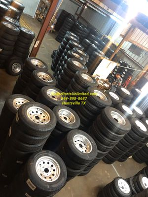 "Trailer tire rim combo, 15"", 16"", 12"", 13"", 14"", 10"" for Sale in Huntsville, TX"
