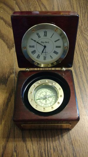 Big Berk Clock, and Compass in a trek wood Box. for Sale in Philo, OH
