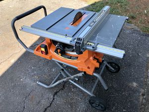 Ridgid 10 in. Pro Jobsite Table Saw with Stand for Sale in Houston, TX