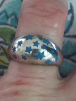VTG.sterling silver 925 turquoise stars ring~ sz7 for Sale in Zionsville, IN