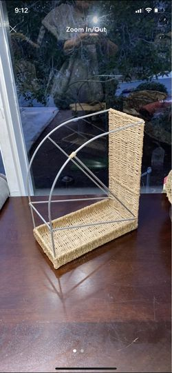 Woven seagrass boho magazine mail rack for Sale in San Diego,  CA
