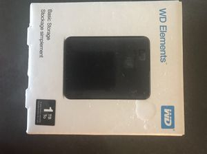 External Harddrive 1TB WD Elements for Sale in Chicago, IL
