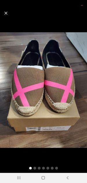 Burberry espadrilles limited edition with box for Sale in Anaheim, CA
