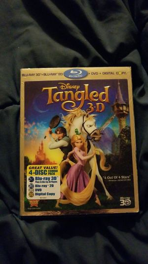 Disney Tangled 3D- 4 disk combo pack for Sale in Agoura Hills, CA