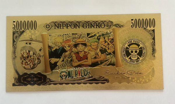 One Piece Anime Gold Cards
