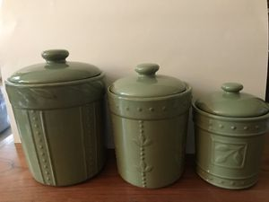 3 piece canister set for Sale in Bristow, VA