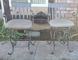 Swivel bronzed bar stools for Sale in Riverside, CA
