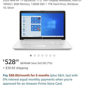 Hp 17-by3063st Laptop for Sale in Amityville, NY
