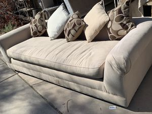 Custom Upholstered Couch with pillows for Sale in Palm Desert, CA
