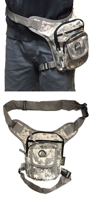 NEW! Digital Camouflage Waist Pouch Hip Holster Pouch drop leg bag Waist Bag Side Bag hiking camping motorcycle hunting biking Pouch Waist Pack for Sale in Carson, CA