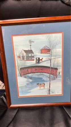 P Buckley Moss framed print #779 of 1000 for Sale in Elyria,  OH